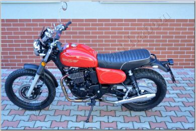 motorcycle Jawa 350 OHC SCRAMBLER - red  (700061)