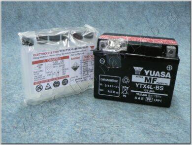 Battery assy. 12V 3Ah YUASA YTX4L-BS ( 113x70x86 )(820102)