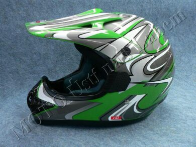 Motocross Helmet CR2 - streamline green ( Motowell )  (890026M)