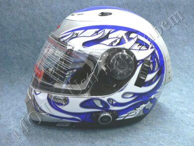 Full-face Helmet FF7 - blaze blue, bluetooth ( Motowell )(890192M)