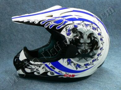 Motocross Helmet CR2 - blue central ( Motowell ) Size XXL  (890011M)