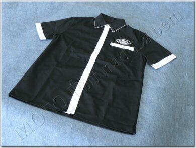košile černo-bílá s logem JAWA - vel. XL(930631)