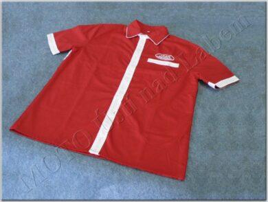 košile červeno-bílá s logem JAWA - vel. S(930634)