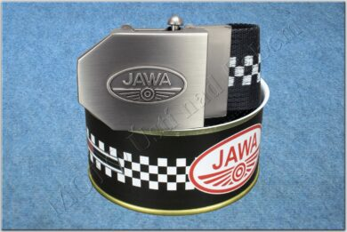 belt JAWA / textile black checkerboard - size 150cm  (930813)