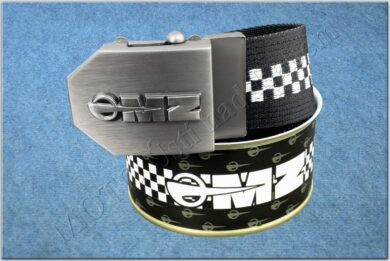 belt MZ / textile black checkerboard - size 150cm  (930822)