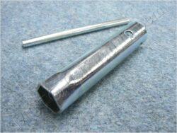 Spark plug wrench 21x120mm ( UNI,Jawa,ČZ,Sim,MZ )