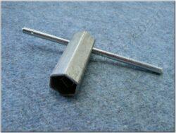 Spark plug wrench 21mm ( UNI,Jawa,ČZ,Sim,MZ )