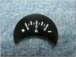 Ammeter plate, +terminal left, 8A ( Pér, Kyv )