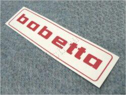 Sticker BABETTA - red 145x37