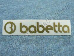 Sticker BABETTA - gold 135x25