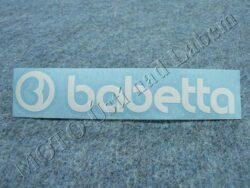 Sticker BABETTA - white 135x25