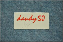 sticker Dandy 50 - 60x20, red ( Jawa 50 Dandy )