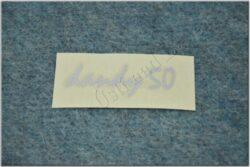 sticker Dandy 50 - 60x20, silver ( Jawa 50 Dandy )