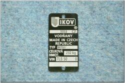 Plate, Name & serial number MJ50 ( Jawa 50 Dandy )