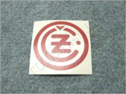 Sticker ČZ - red 50x50