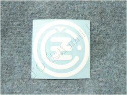 Sticker ČZ - white 50x50