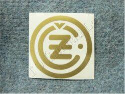 Sticker ČZ - gold 50x50