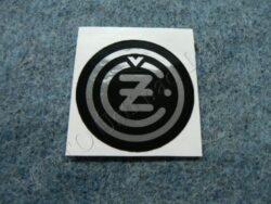 Sticker ČZ - black-silvery