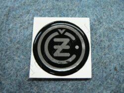 Sticker ČZ - black-solvery