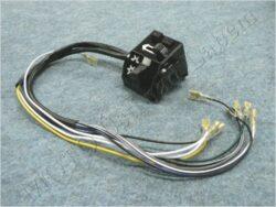 Headlight dimmer switch, turn signal + horn button -  wireharness ( Simson,MZ )