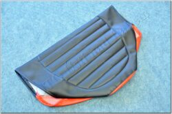 Seat cover, black-red ( Simson-SR )
