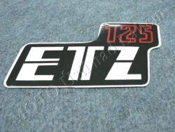 Sticker ETZ 125, Cover case - back-white-red ( MZ ) orig.
