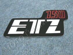 Sticker ETZ 150, Cover case - back-white-red ( MZ ) orig.
