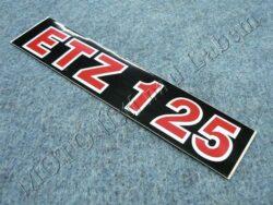 Sticker ETZ 125, Cover case - back-white-red ( MZ ) no orig.