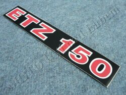 Sticker ETZ 150, Cover case - back-white-red ( MZ ) no orig.