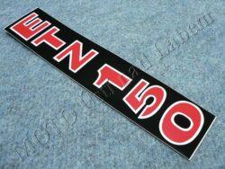 Sticker ETZ 150, Fork sliders - black-white-red ( MZ )