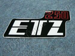 Sticker ETZ 250, Cover case - back-white-red ( MZ ) orig.