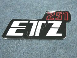 Sticker ETZ 251, Cover case - back-white-red ( MZ ) orig.