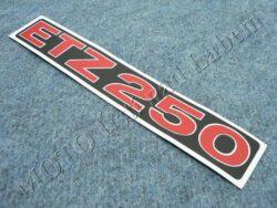 Sticker ETZ 250, Cover case - back-white-red ( MZ ) no orig.