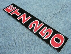 Sticker ETZ 250, Fork sliders - black-white-red ( MZ )