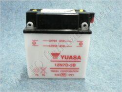 Battery assy. 12V 7Ah YUASA 12N7D-3B ( 134x76x150 )