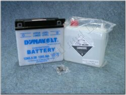 Battery assy. 12V 5,5Ah Dynavolt 12N5,5-3B ( 138x61x136 )