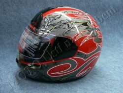 Full-face Helmet FF1 - mist red ( Motowell )