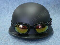 Helmet MILITARY - black w/ google ( Koestler )