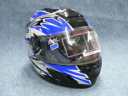 Full-face Helmet - black/blue ( no name )