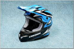 Helmet Cross Cup - white pearl/blue/bl ( Cassida ) Size XS