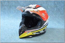 Cross Helmet X1.9 - White/black/red/yellow ( ZED ), child
