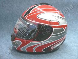 Full-face Helmet FF2 - extreme red ( Motowell )