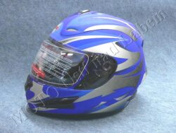 Full-face Helmet FF4 - magnetic stripe blue ( Motowell )