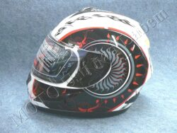 Full-face Helmet FF4 - shot white ( Motowell )