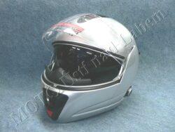 Flip-Up Helmet FU3B - silver, bluetooth ( Motowell )(890220M)
