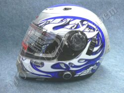 Full-face Helmet FF7 - blaze blue, bluetooth ( Motowell )
