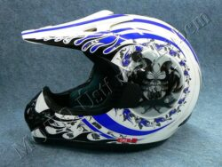 Motocross Helmet CR2 - blue central ( Motowell ) Size XXL