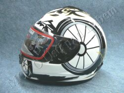 Full-face Helmet FF2 - white bike ( Motowell )
