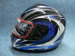 Full-face Helmet FF3 - blue ice ( Motowell )