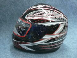 Full-face Helmet FF3 - red trophy ( Motowell )